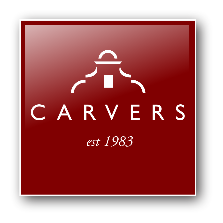 Carvers logo Square red A